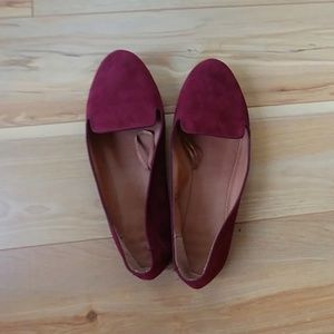 H&M suede flats deep red wine US 9 euro 39